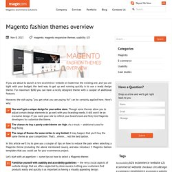 Magento fashion themes overview