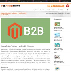 Magento Features That Make It Ideal For B2B E-Commerce