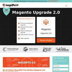 Magento 2 Upgrade Service and Magento 2 Migration : magePoint
