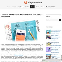 Common Magento App Design Mistakes That Should Be Avoided – Magento Store Blog