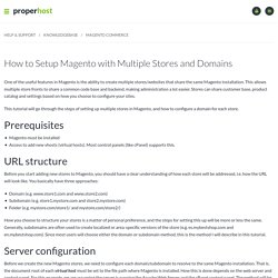 How to Setup Magento with Multiple Stores and Domains - ProperHost