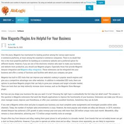 How Magento Plugins Are Helpful For Your Business