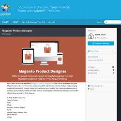 Magento Product Designer on Wacom Gallery