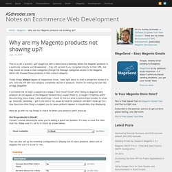 Why are my Magento products not showing up?
