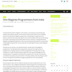Hire Magento Programmers from India - BuzWizz