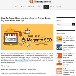 How To Boost Magento Store Search Engine Ranking with Killer SEO Tips? – Magento Store Blog