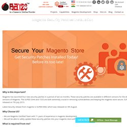 Magento Security Patches Installation, Install Magento Security Patches