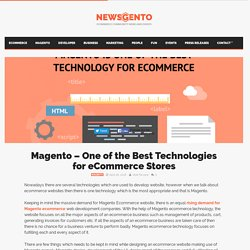 Magento - One of the Best Technologies for eCommerce Stores