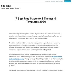 7 Best Free Magento 2 Themes & Templates 2020 – Site Title