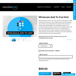 Magento Wholesale Extension