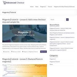 Magento2 Tutorial Categories