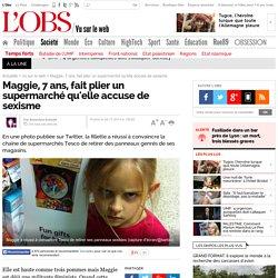 Maggie, 7 ans, fait plier un supermarché qu'elle accuse de sexisme