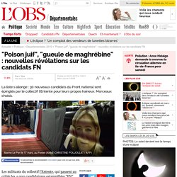 """""""Poison juif"""", """"gueule de maghrébine"""" : nouvelles révélations sur les candidats FN"""