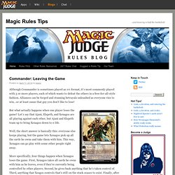 Magic Rules Tips | …and knowing is half the Battlefield