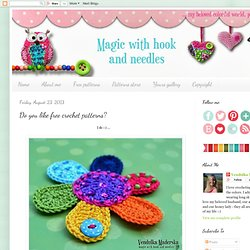 Do you like free crochet patterns?