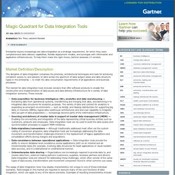 Magic Quadrant for Data Integration Tools