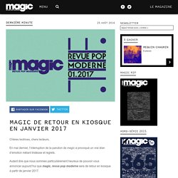 magic de retour en kiosque en janvier 2017
