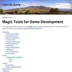 Magic Tools for Game Development