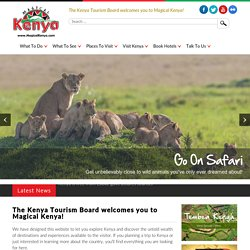 | MagicalKenya - The Official Kenya Travel Guide and Travel Info