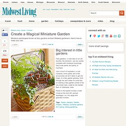 Create a Magical Miniature Garden