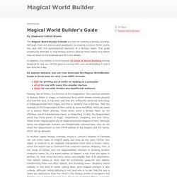Magical World Builder
