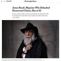 James Randi, Magician Who Debunked Paranormal Claims, Dies at 92
