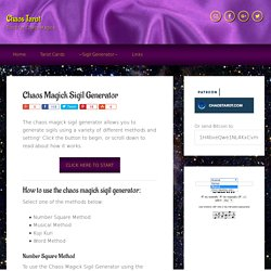 Chaos Magick Sigil Generator - Magic Square Kamea, Musical, or Word Method Sigils