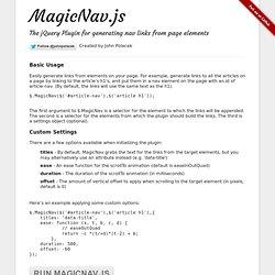 MagicNav