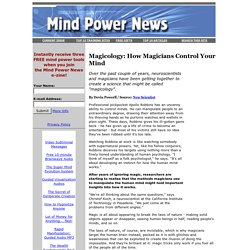 Magicology: How Magicians Control Your Mind