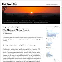 magics of mythic europe