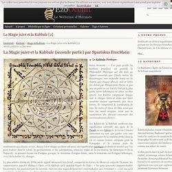 La Magie juive & la Kabbale [2]