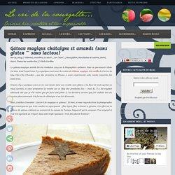 Gâteau magique châtaigne et amande {sans gluten ~ sans lactose}