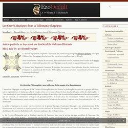 Les Carrés Magiques dans la Talismanie d'Agrippa « Livres & Sites « Miscellanées