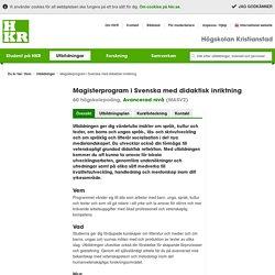 Magisterprogram i Svenska med didaktisk inriktning