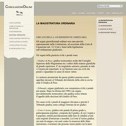 La magistratura ordinaria - Giustizia ordinaria - Articoli - Lega consumatori