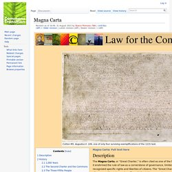 Magna Carta - Commons Transition Wiki