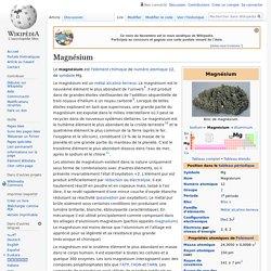 WIKIPEDIA – Magnésium.