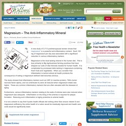 Magnesium – The Anti-Inflammatory Mineral