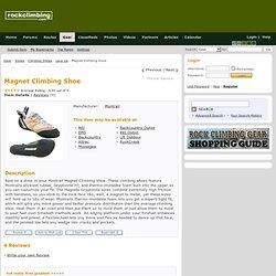 Magnet Climbing Shoe : Rock Climbing Gear : Rockclimbing.com