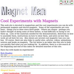 Magnet Man - Cool Experiments with Magnets