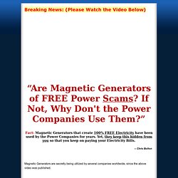 Magnets 4 Energy - Build Your Own Magnetic Generator and Never Pay For Electricity Ever Again!
