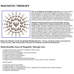 Magnetic Healing Therapy - Magnetic Healer & Muscle Therapy