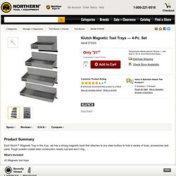 Klutch Magnetic Tool Trays — 4-Pc. Set
