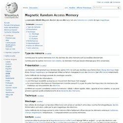 Magnetic Random Access Memory