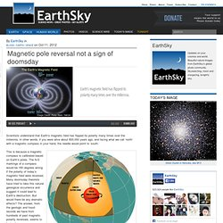 Magnetic pole reversal not a sign of doomsday | Earth
