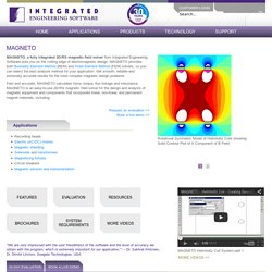 MAGNETO: 2D/RS Magnetic Field Simulation Software