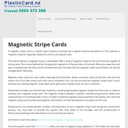 Magnetic Stripe Cards - Plastic Card
