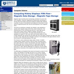 Computing History Displays - The University of Auckland - Historydisplays - FifthFloor - MagneticDataStorage