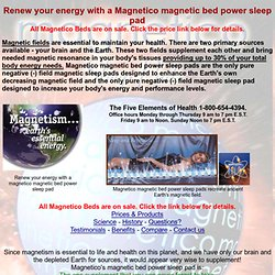 Magnetico magnetic bed power sleep pad.