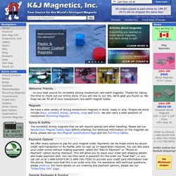 K&J Magnetics - Strong Neodymium Magnets, Rare Earth Magnets